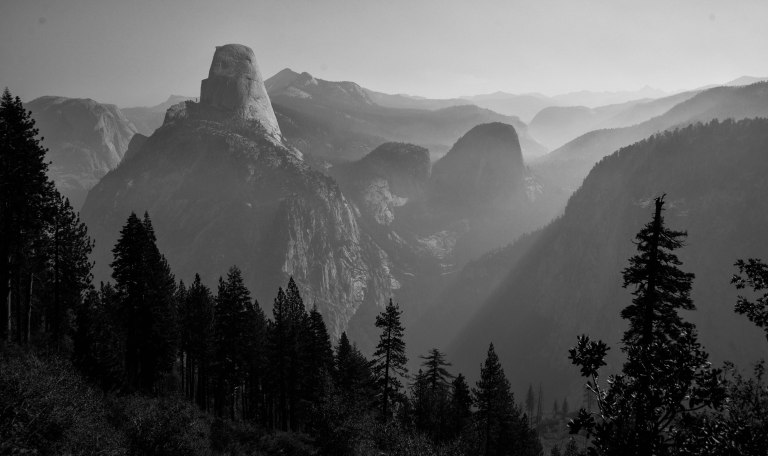 Panorama Trail, back side of Half Dome. Yosemite National Park. 2015.